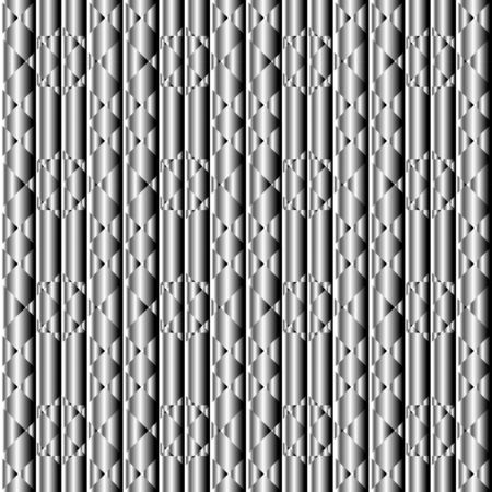 Abstract seamless metal chrome background. Texture for technology design. Illustration