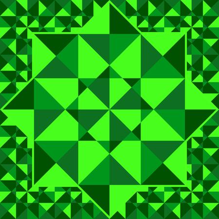 emerald: Emerald pattern of geometric shapes. Emerald mosaic background. Emerald Triangle background. Emerald faceted background. Illustration