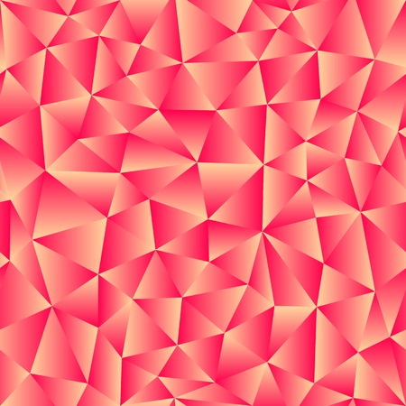 Vector background of triangles with a red gradient fill. Ready for tile. For use in your design. Illustration