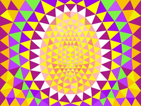 Abstract multicolored Easter background with triangles. Abstract Easter pattern. Illustration