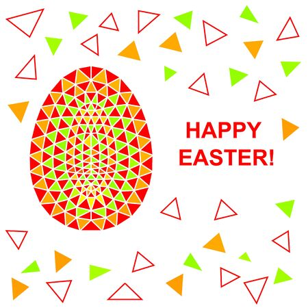 covenant: Abstract multicolored Easter background with Easter Egg. Abstract Easter pattern. Happy Easter