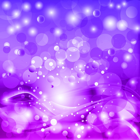 Beautiful fantasy vector background with stylized waves and bokeh.
