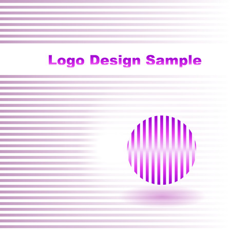 interlaced: Abstract logo design in the style interlaced with striped circle. Illustration