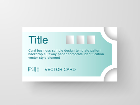 appearance: Business card template. Example of the appearance of the shadow. Illustration