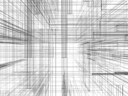 architect plans: Abstract spatial design technology grunge background.