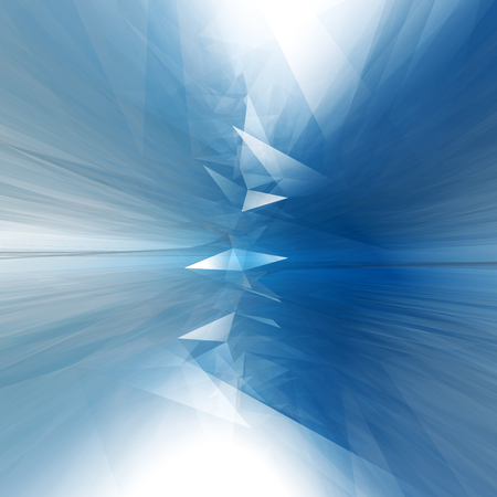 Triangular ice abstraction. Beautiful mystical background for design.