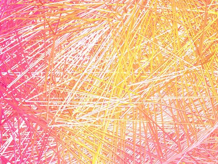 crossing tangle: Abstract background of intersecting lines. Red. Yellow. White.