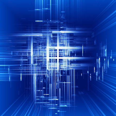 spatial: Abstract spatial technology blue background.