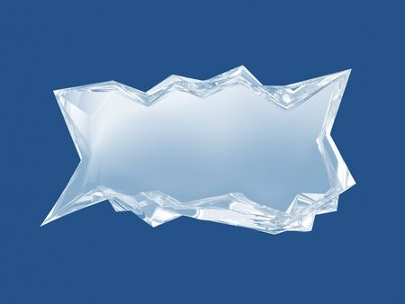 refrigerate: Ice bar. Dialog cloud from a piece of ice. Stock Photo