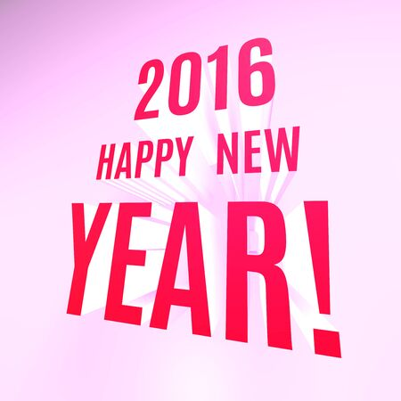 two thousand: Happy New Year 2016 background. Stock Photo