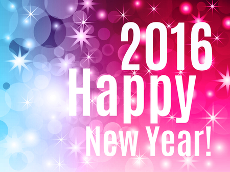 2016 Happy New Year! Holiday background.