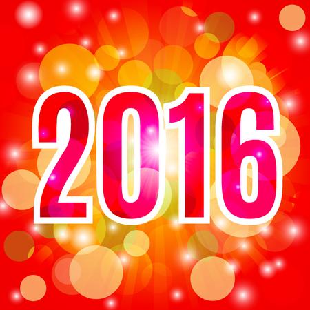 holiday background: 2016 Holiday background.  Illustration