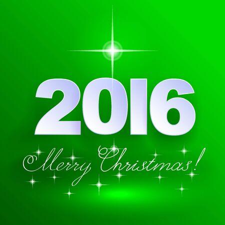 holiday background: 2016 Merry Christmas! Holiday background.   Illustration