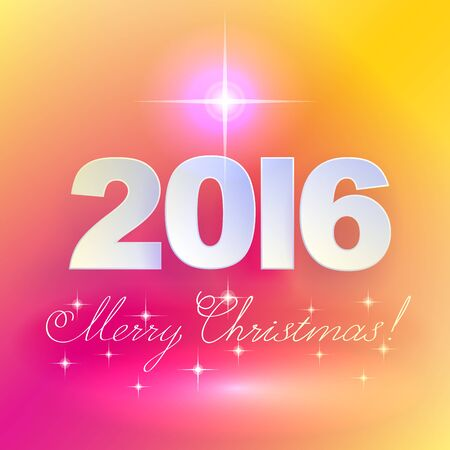 holiday background: 2016 Merry Christmas! Holiday background.