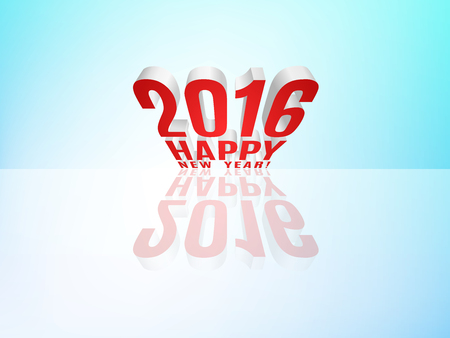 two thousand: 2016 Happy New Year message with reflection.