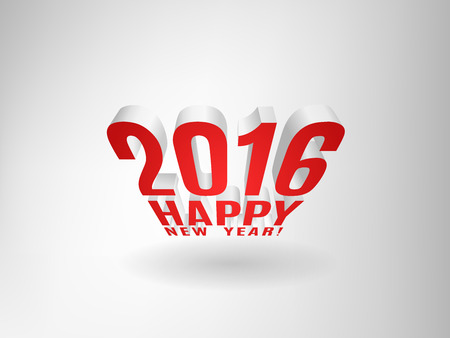 three dimensional: 2016 Happy New Year message three dimensional composition. Illustration