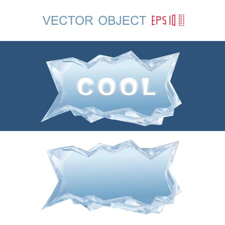 refrigerate: Ice bar. Dialog cloud from a piece of ice. Illustration