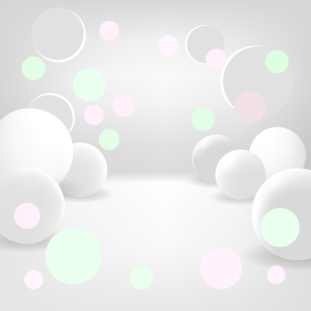 miraculous: Bright background with snow balls and bokeh. Magic background. Holiday background. Vector EPS10