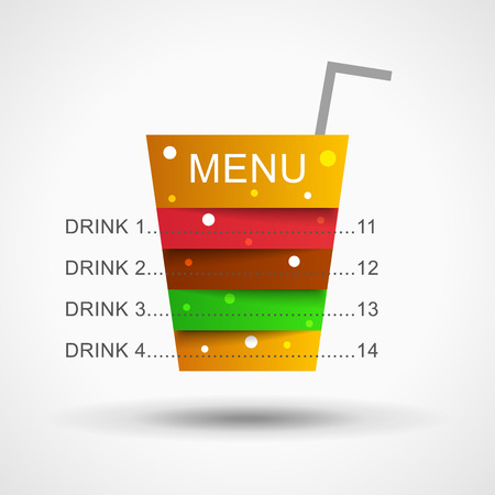 beverage menu: Cocktail menu illustration. Restaurant menu in cocktail layers. Cocktail illustration. Drink menu illustration. Drink  illustration. Beverage illustration. Fast food menu illustration.