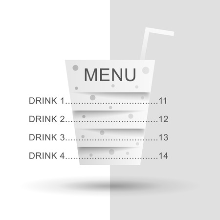 cocktail drink: Cocktail  made up of strips of paper with a written menu. Cocktail menu illustration. Cocktail illustration. Drink menu illustration. Beverage illustration. Fast food menu illustration. Illustration