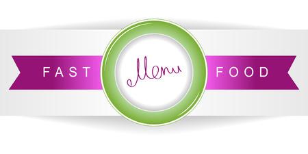 food plate: Fast food menu on a plate. Flat Fast Food Menu icon. Flat Fast Food Menu design. Flat Fast Food Menu graphics.