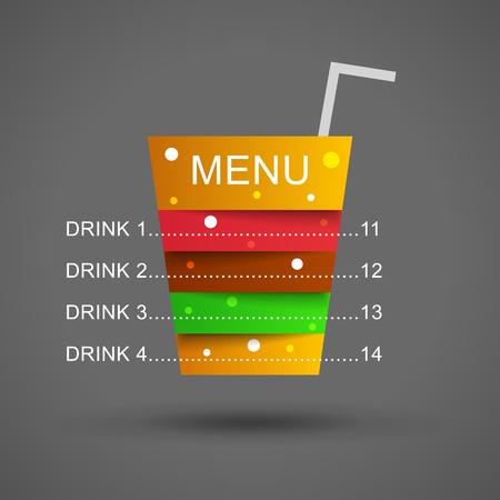 strip club: Cocktail menu illustration. Restaurant menu in cocktail layers. Cocktail illustration. Drink menu illustration. Drink  illustration. Beverage illustration. Fast food menu illustration.