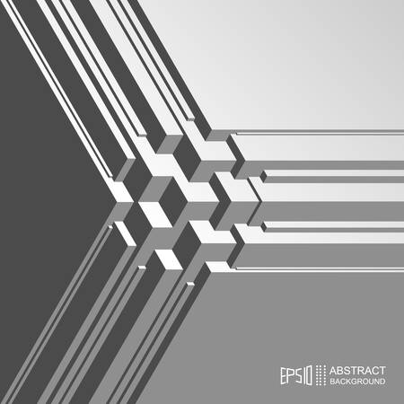 abstract cubes: Abstract volume isometric background with lines and cubes.