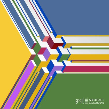 information design: Abstract volume isometric multicolored background. Layout for design of information materials.