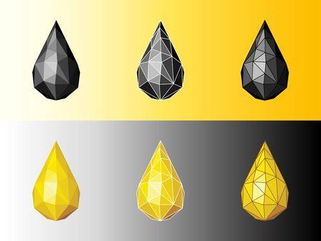 Drop of oil. Icon of oil. Oil icon. Lube icon. Fuel Icon. Petroleum icon. Mineral oil icon.
