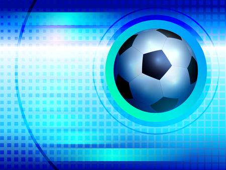 tournament chart: Blue football blank to display information with a soccer ball