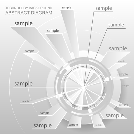 quadrant: Abstract schematic design. Wheel chart. Blank diagram design with footnotes. Technology plan