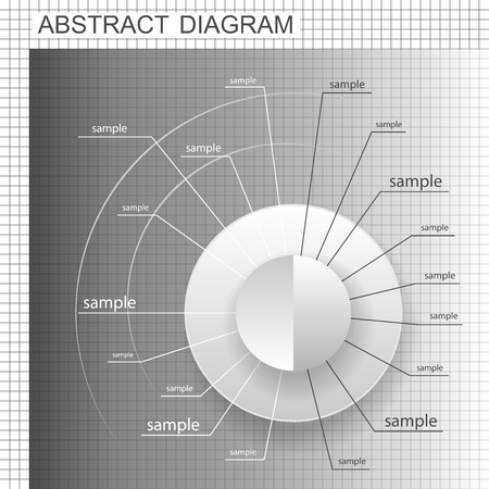 quadrant: Abstract business chart. Wheel plan. Blank diagram design with footnotes