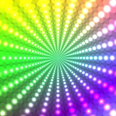 fluorescence: Abstract light glowing rainbow background Illustration
