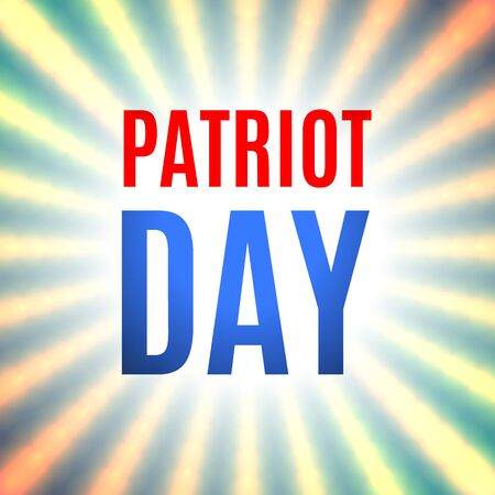 Patriot Day background with rays