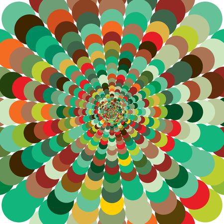Abstract colorful patterned background. Motley abstract background with bright circles creating a pattern. Followed gradually increases from the center