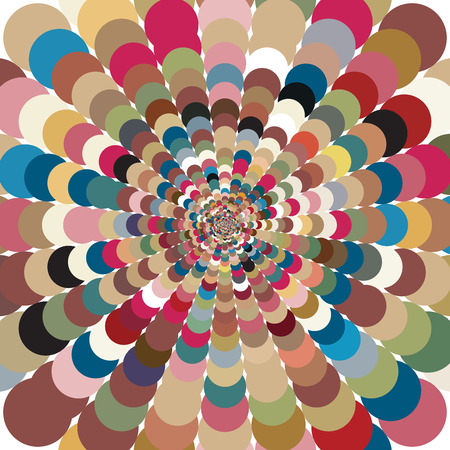 rotund: Abstract bright colorful patterned mosaic background. Motley abstract background with bright circles creating a pattern. Followed gradually increases from the center