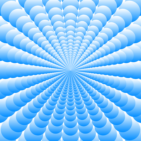 Abstract blue blue background of the many of superposed circles increasing from the center
