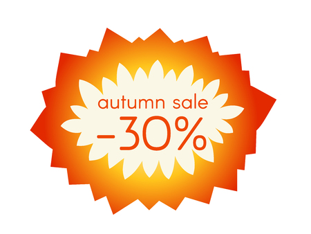starlike: Autumn sale sticker.  Vector illustration. EPS 10 Illustration