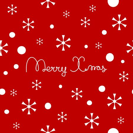 Merry Christmas lettering design. Seamless pattern element for cover, print, web, wrapping. Vector illustration