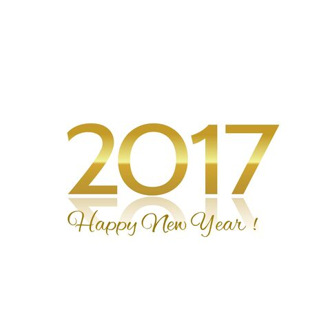 golden color: Number of new year 2017 golden color, with a happy new year wishes