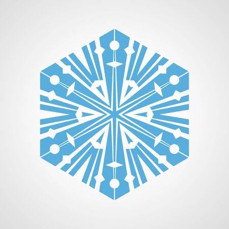 quaint: Snowflake icon design close-up isolated on white background