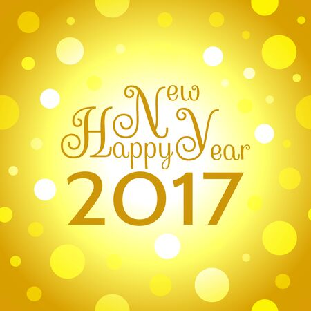 happy web: 2017 Happy New Year background. Seamless pattern element for cover, print, web, wrapping. Vector illustration