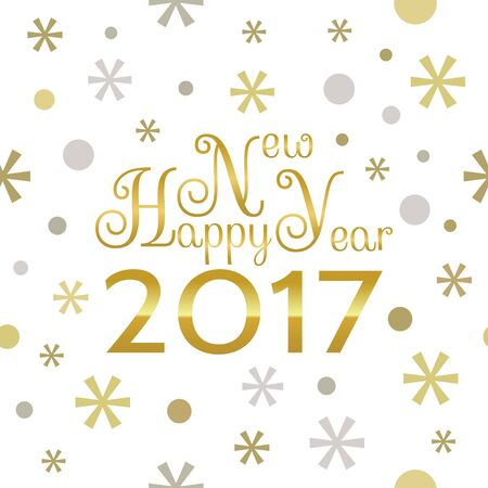 happy web: 2017 Happy New Year background. Seamless pattern element for cover, print, web, wrapping. Stock Photo