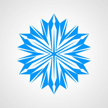 Snowflake icon design close-up isolated on white background