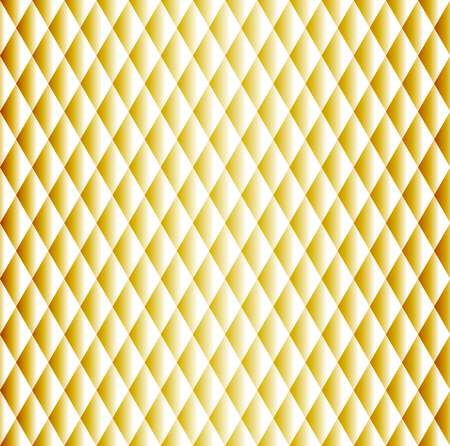 Gold geometric background. Golden color seamless pattern of shiny rhombuses