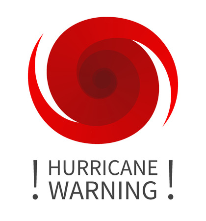 Hurricane indication. Graphic banner of hurricane warning. Icon, sign, symbol, indication of the hurricane, vortex, tornado