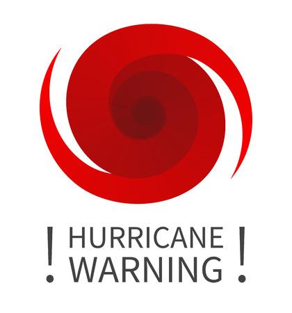 허리케인 표시. 허리케인 경고의 그래픽 배너입니다. 아이콘, 기호, 기호, 허리케인의 표시, 소용돌이, 토네이도 일러스트