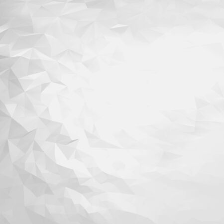 Abstract white and gray triangular polygon background. Light polygonal backdrop Stock Vector - 86736717