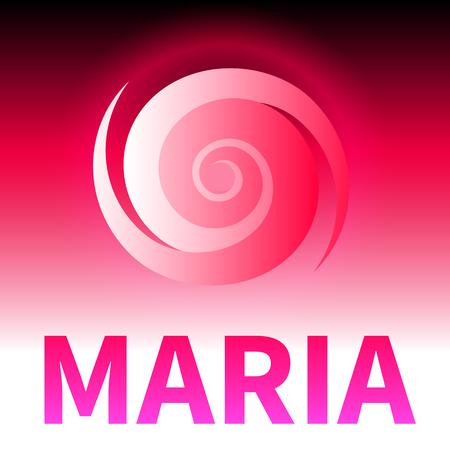 Graphic banner of hurricane Maria. Icon  sign  symbol of the hurricane, vortex, tornado Illustration