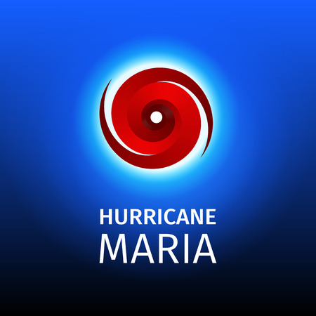 Graphic banner of hurricane Maria. Icon / sign / symbol of the Hurricane